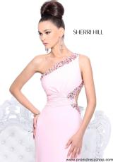 Sherri Hill 2970.  Available in Aqua, Black/Multi, Coral, Fuchsia/Multi, Green/Multi, Nude/Ab, Pink, Pink/Ab, Purple, Purple/Ab